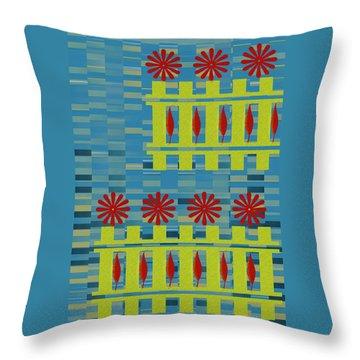 City Garden Throw Pillow by Ben and Raisa Gertsberg