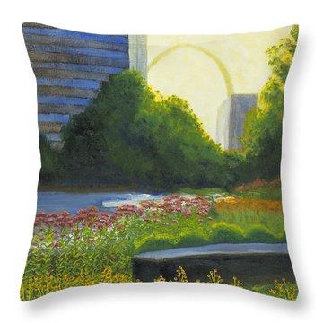 City Garden St. Louis Throw Pillow