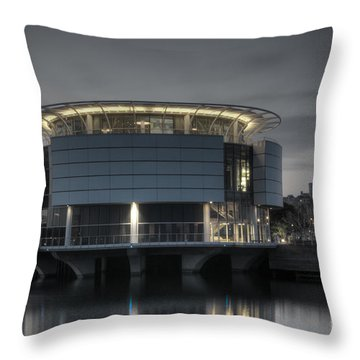 Throw Pillow featuring the photograph City Glare by Deborah Klubertanz