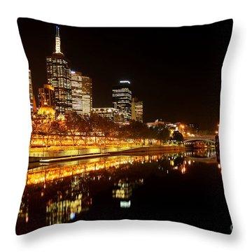 City Glow Throw Pillow by Andrew Paranavitana