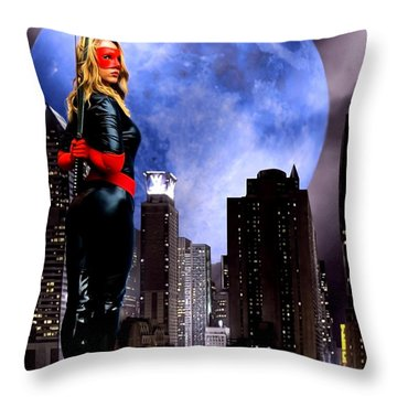 Throw Pillow featuring the photograph City Guard by Jon Volden