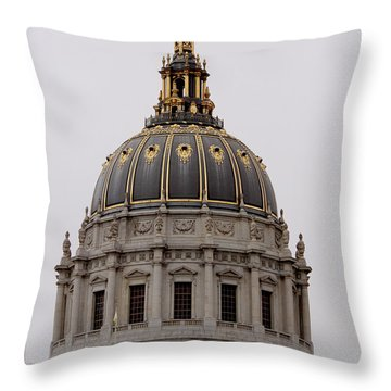 Throw Pillow featuring the photograph City Hall Cupola by Ivete Basso Photography