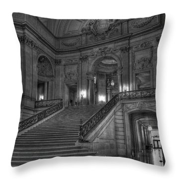 City Hall Grand Stairs Throw Pillow
