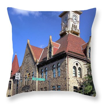 City Hall - Johnstown Pa Throw Pillow