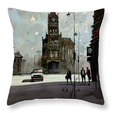 City Hall - Milwaukee Throw Pillow by Ryan Radke