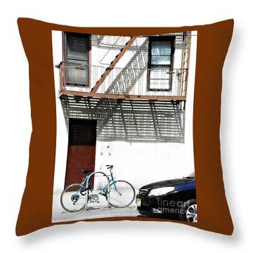 City Home Throw Pillow by Sarah Loft