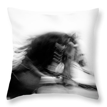 City Horses Throw Pillow by Dave Bowman