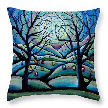 City In The Heavens Throw Pillow