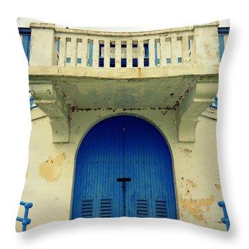 City Island Bath House Throw Pillow