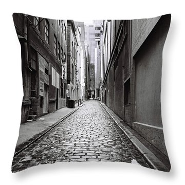 City Lane Melbourne Throw Pillow by Linda Lees