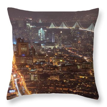 City Lava Throw Pillow