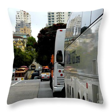City Life In Frisco Throw Pillow by Avis  Noelle