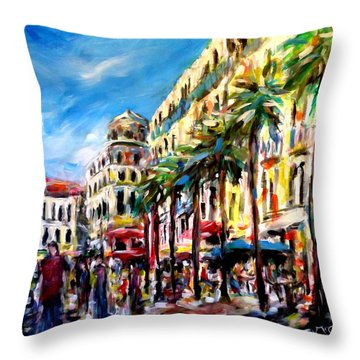 City Life Throw Pillow by K McCoy