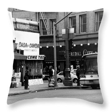 City Life Throw Pillow by Karl Rose