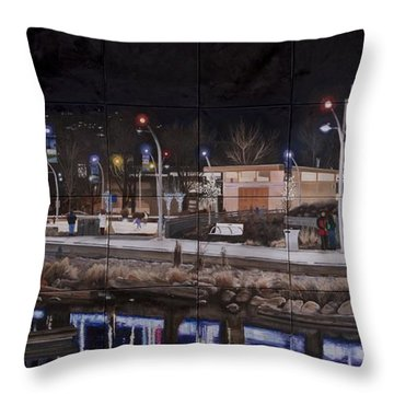 City Lights Throw Pillow