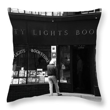 City Lights Bookstore - San Francisco Throw Pillow
