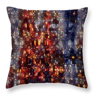 City Lights Throw Pillow by David Hansen