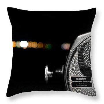 City Lights In Bokeh Throw Pillow