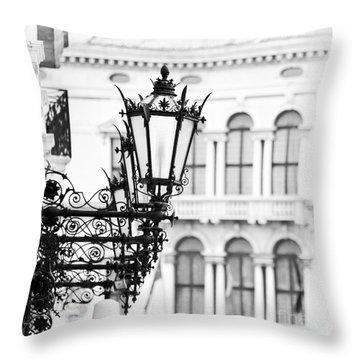 City Lights In Venice Throw Pillow