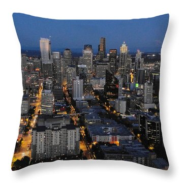 Throw Pillow featuring the photograph City Lights by Natalie Ortiz