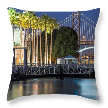 City Lights On Mission Bay Throw Pillow