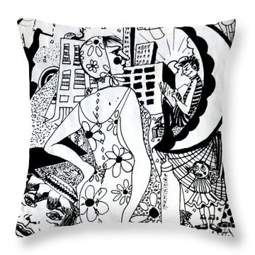 City Livin' Mamma Throw Pillow