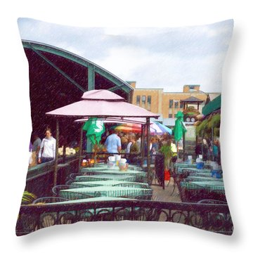 City Market Throw Pillow by Liane Wright