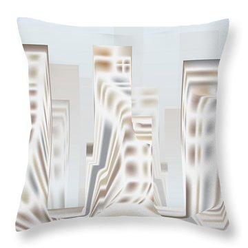 Throw Pillow featuring the digital art City Mesa 2 by Kevin McLaughlin