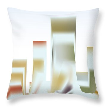Throw Pillow featuring the digital art City Mesa by Kevin McLaughlin