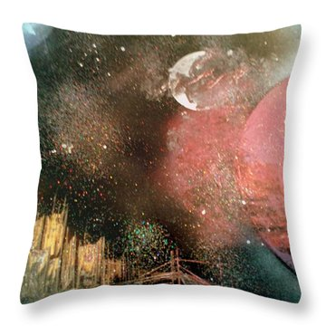 City Night Lights Throw Pillow