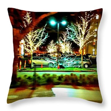 Throw Pillow featuring the photograph City Night by Rose Wang