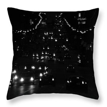City Nights Throw Pillow by Empty Wall