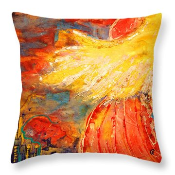 City Of An Angel Throw Pillow