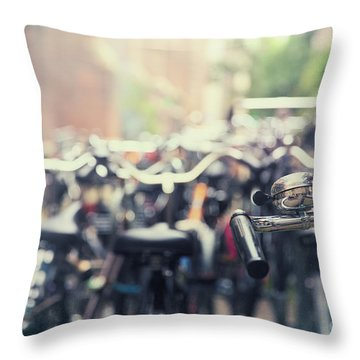 City Of Bikes Throw Pillow