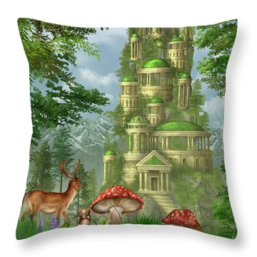 City Of Coins Throw Pillow by Ciro Marchetti