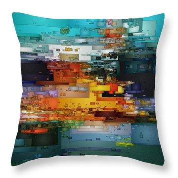 City Of Color 1 Throw Pillow by David Hansen