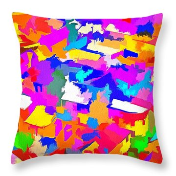 City Of Colours Throw Pillow