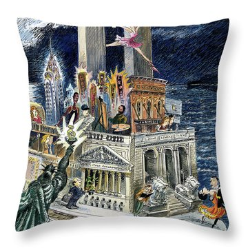 City Of Dreams Throw Pillow