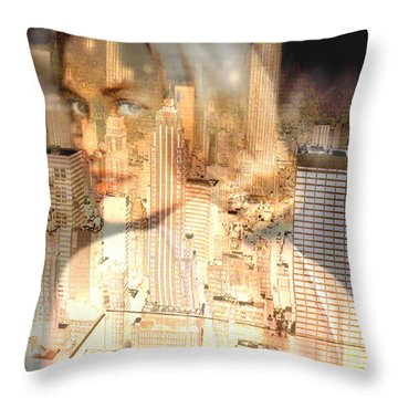 City Of Grace Throw Pillow by Seth Weaver