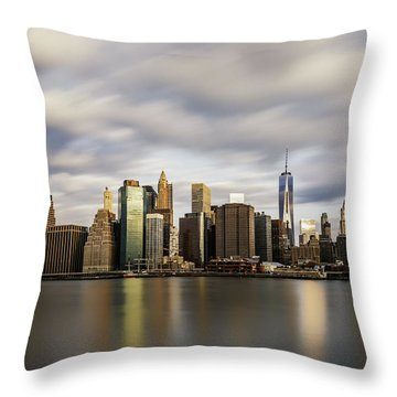 Throw Pillow featuring the photograph City Of Light by Anthony Fields