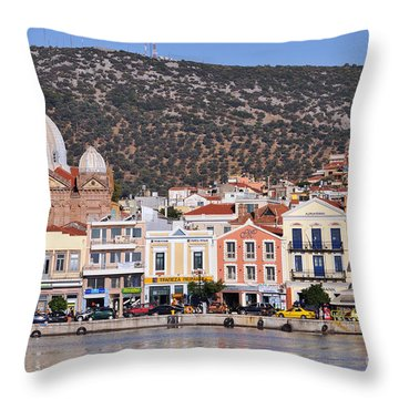 City Of Mytilini Throw Pillow