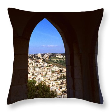 City Of Nazareth Throw Pillow by Thomas R Fletcher