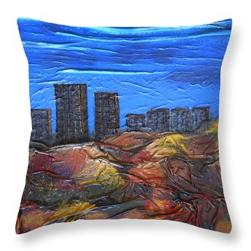 City Of Trees Throw Pillow