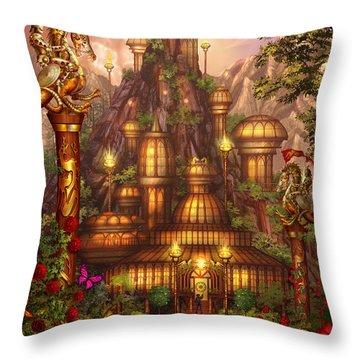 City Of Wands Throw Pillow
