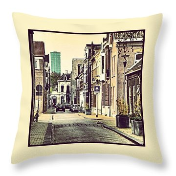 City Old And New Throw Pillow
