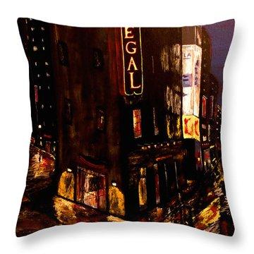 City Rain 2 Throw Pillow by Mark Moore