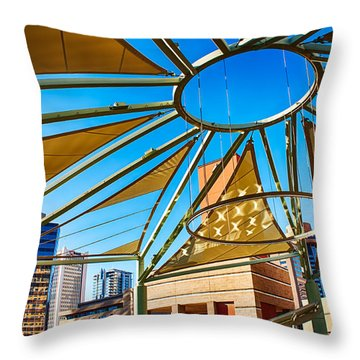 City Shapes Throw Pillow by Fred Larson