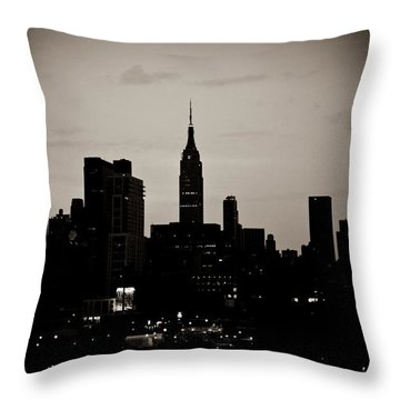 Throw Pillow featuring the photograph City Silhouette by Sara Frank