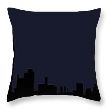 Throw Pillow featuring the digital art City Skyline... by Tim Fillingim