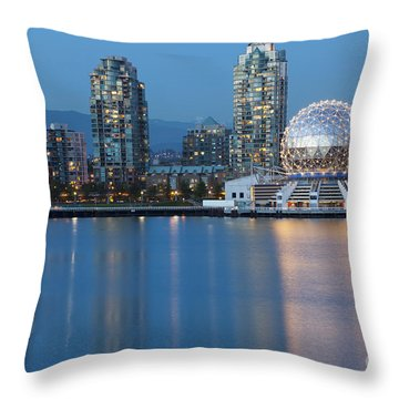 Throw Pillow featuring the photograph City Skyline -vancouver B.c. by Bryan Mullennix